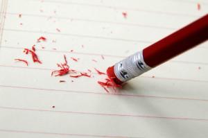 brisanje svinčnik