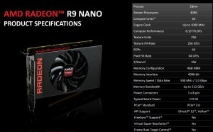AMD Radeon R9 Nano tehnikalije