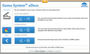 Gama System eDocs 5 na napravi Kyocera