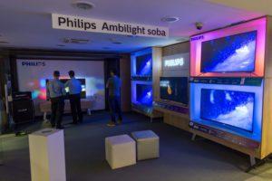 nova dnevna soba Philips Ambilight v Big Bangu v BTC Ljubljana